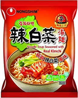 Nongshim Noodle Soup Ramen, with Real Kimchi 4.2 Ounce (Pack of 4)