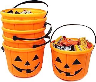 JOYIN Halloween Trick or Treat Pumpkin Bucket Jack O Lantern Candy Basket Halloween Party Supplies Pumpkin Pails with Hand...