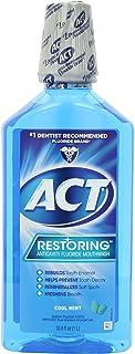 ACT Restoring Mouthwash, Cool Splash Mint, 33.8 Fl Oz