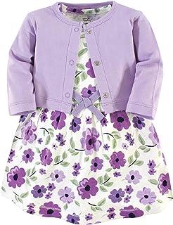Baby Girls' Organic Cotton Dress and Cardigan