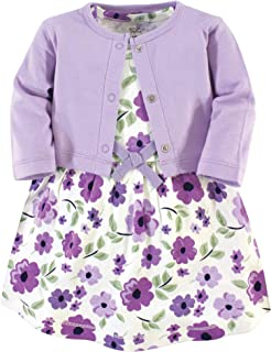 Touched by Nature Baby Girls' Organic Cotton Dress and...