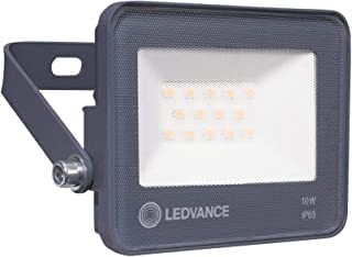 LEDVANCE Outdoor/Indoor ECO LED Flood Floodlight Luminaires 10W, Car Park/Security/Architectural, Light Weight, Slim Desig...