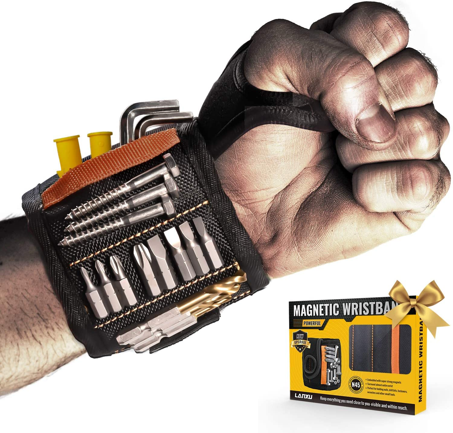 LANXU Magnetic Wristband Tool Belts with Albuquerque Mall 15 Strong Magnets Cheap super special price for