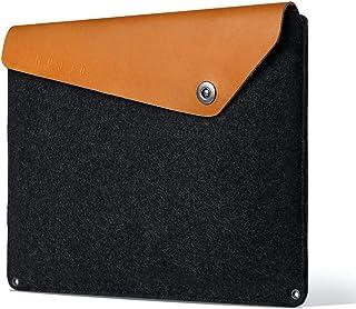 جراب Mujjo لجهاز MacBook Pro الجديد مقاس 16 بوصة، مقاس 15 بوصة MacBook Pro (الجيل الرابع) | لباد مضاد للقشر، غطاء جلد مدبو...