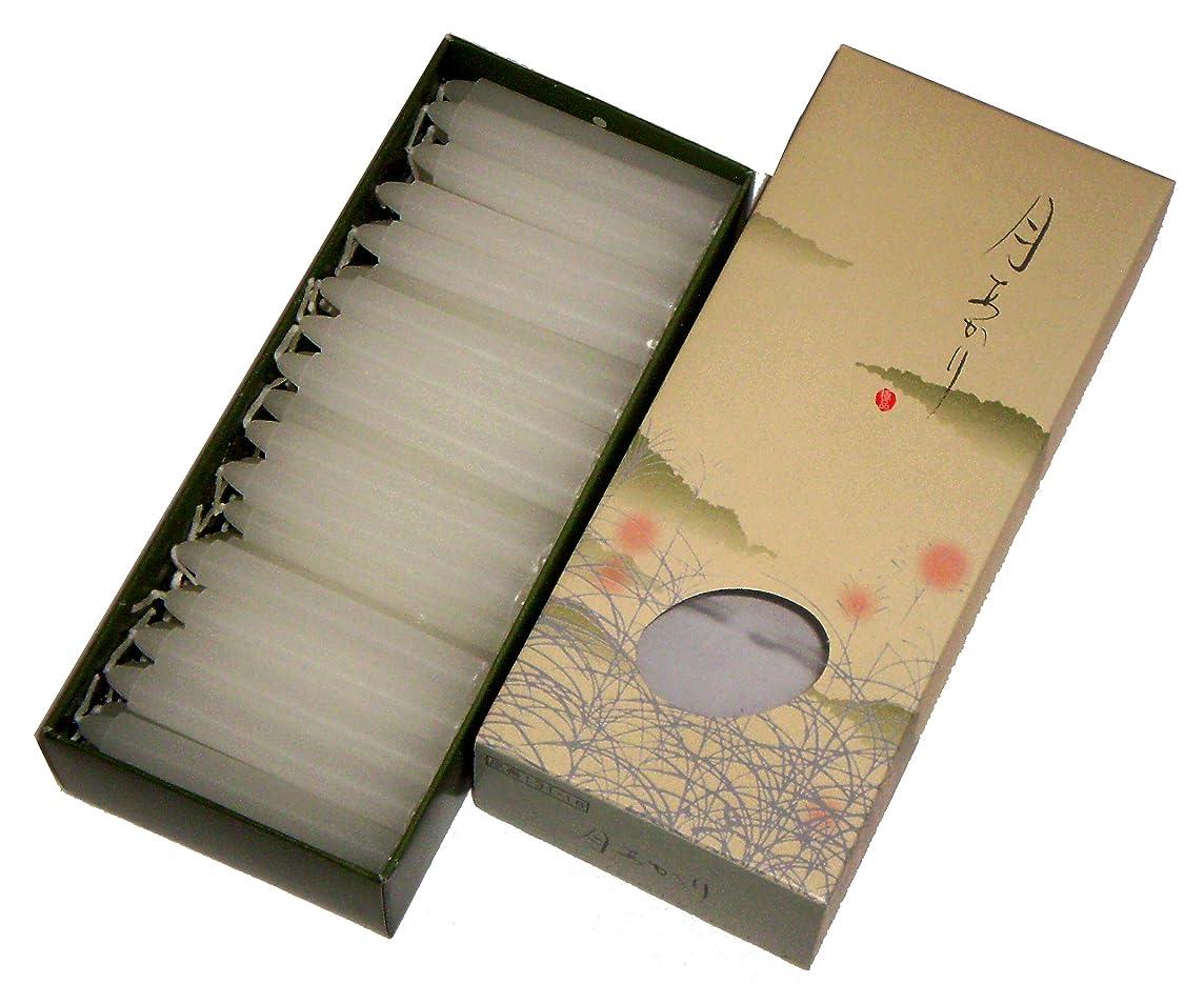 プレゼント思われる脇に東海製蝋のろうそく 月あかり 太40分約68本