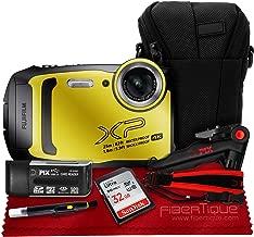 $249 Get Fujifilm FinePix XP140 Digital Camera (Yellow) XP140 + 32GB + Case + Strap + Accessories Bundle