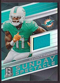 2018 Panini Spectra Football Sunday Spectacle Jersey #44 DeVante Parker 152/199 Miami Dolphins