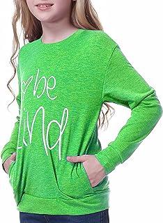 MissBeiGirl'sT-ShirtTunicTopsTeesweatshirtspulloverfloralLongSleeveCasualTeesKidBlouseSize3-12Years
