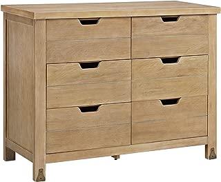 Baby Relax Ridgeline 6-Drawer Dresser, Rustic Natural