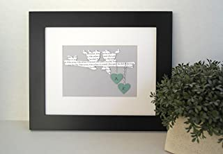 Personalized Religious Wedding, Engagement or 1st Anniversary Gift - 1 Corinthians 13:4-8