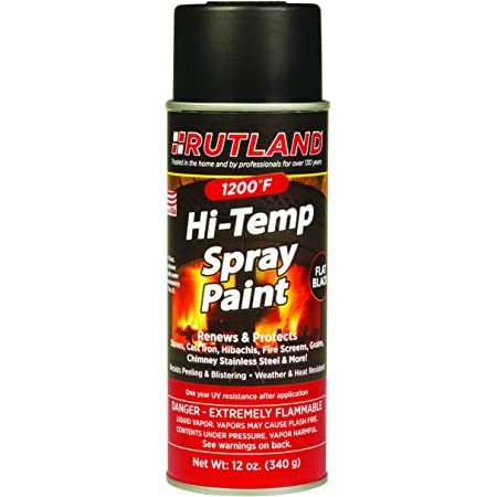 Amazon Com Rust Oleum 241169 High Heat Ultra Enamel Spray Black 12 Ounce 12 Oz Home Improvement