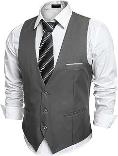 Men's V-Neck Sleeveless Slim Fit Jacket Casual Suit Vests