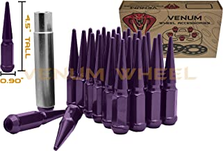 Venum wheel accessories 32 Pc Purple Spike 14x1.5 Thread Pitch Security Lug Nuts 4.5