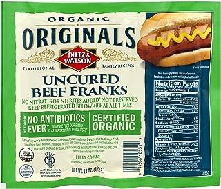 Dietz & Watson Originals Organic Beef Franks, 12 oz