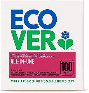 Ecover All-In-One vaatwasmachine-tabs citroen & mandarijn (100 stuks/2 kg), multi-tabs voor een krachtige reiniging, Ecove...
