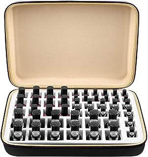Nail Polish Organizer Holder for 48 bottles Fingernail Polish, Travel Carrying Gel Nails Polish Storage Case Box with 4 Si...