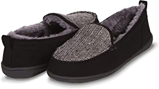 Moccasin Slippers for Women- Cozy Indoor-Outdoor Home-Bedroom Slip Ons- Micro Suede Exterior, Memory Foam Sole, Hard Rubber Outsole, Faux Fur Lining