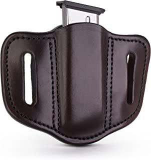 1791 GUNLEATHER Single Mag Holster for Single Stack Mags, OWB Magazine Pouch for Belts Available in Stealth Black, Classic Brown, Black & Brown and Signature Brown