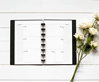 BetterNote Horizontal Undated Calendar Inserts for Disc-Bound Planners, Fits 8 Disc Circa Junior, Arc by Staples, TUL, Half Letter Size 5.5