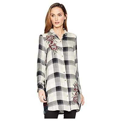 Tolani Alana Plaid Tunic Dress (Grey) Women