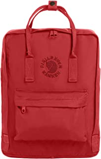 Re-Kanken Recycled and Recyclable Kanken Backpack for Everyday, Red