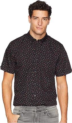 Short Sleeve Shadow Spot Print Shirt