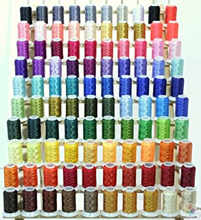 NEW Brother 100 Cones & RACK Poly Embroidery Threads 40wt from ThreadNanny for Brother / Babylock Embroidery Machines like PE-700, PE700II, PE-750D, PE-770, PE-780D, SE270D, SE400, Innovis 1000, Innovis 1200, Innovis 1250D, PC-6500, PC-8200, PC-8500 And New Babylock Ellure, Emore and NEW Esante