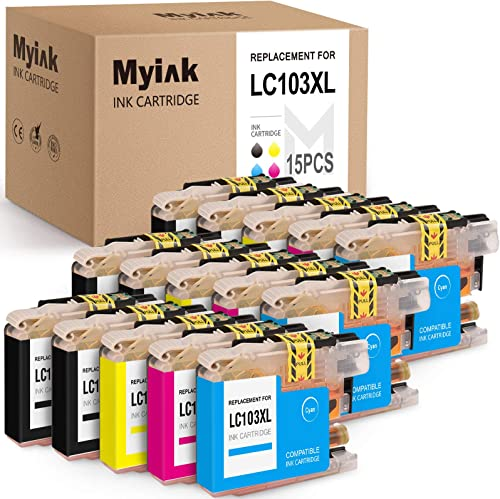new arrival MYIK Compatible Ink Cartridge Replacement for high quality Brother LC103 LC103XL LC discount 103XL LC101 for MFC J4310DW J4410DW J4510DW J4610DW J4710DW J6520DW J6720DW (6 Black, 3 Cyan, 3 Magenta, 3 Yellow,15 Pack) sale