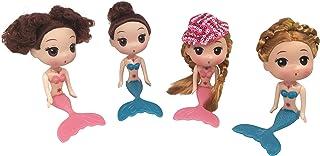 New JJMG 4Set Cake Toppers Decorating Disney Mermaid Dolls Ocean Princess Toy