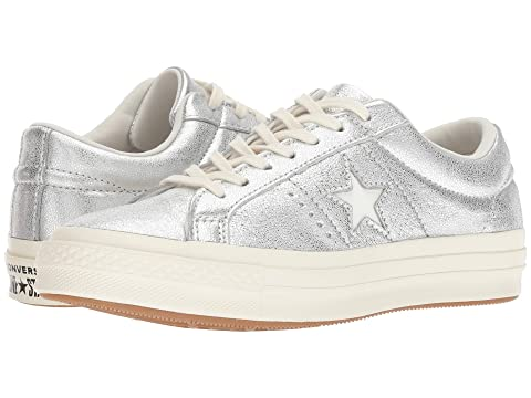 4c27a5026b89 Converse One Star Heavy Metallic Leather Ox