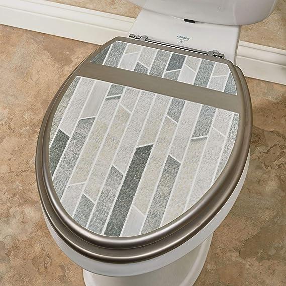 tama/ño mediano Ginsey Home Solutions Asiento para inodoro alargado color blanco