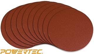 POWERTEC 110580 9-Inch PSA 80 Grit Aluminum Oxide Adhesive Sanding Disc, 10-Pack
