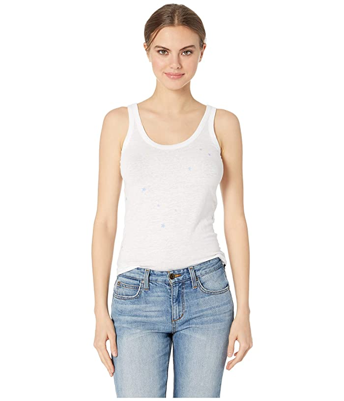 Chaser Mini Stars Linen Jersey Shirttail Tank (White) Women