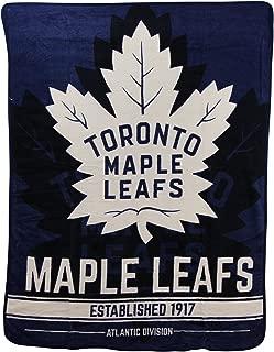 NHL Breakaway Super Soft Plush Throw Blanket (Toronto Mapleleafs)