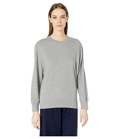 Vince Long Sleeve Pullover (Heather Steel) Women