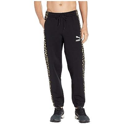 PUMA Classics New Pants Cuff (PUMA Black/Leopard AOP) Men