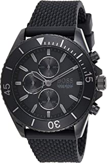 Hugo Boss Mens Quartz Watch, Chronograph Display and Rubber Strap 1513699