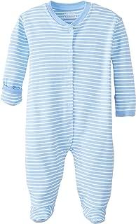 JoJo Maman Bebe Unisex-Baby Newborn Breton Sleepsuit