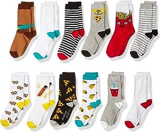 Amazon Brand - Spotted Zebra Kid's 12-Pack Crew Socks