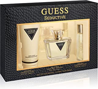 GUESS Seductive Eau de Toilette 75 ml + Body Lotion 200 ml+ Mini 15 ml, Gift Set for Women