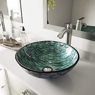 VIGO Oceania Glass Vessel Bathroom Sink
