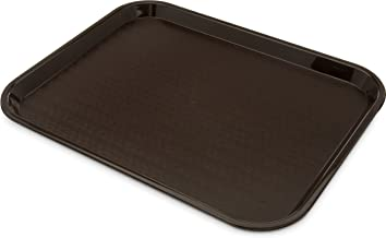 "Carlisle CT141869 Café Standard Cafeteria/Fast Food Tray, 14"" x 18"", Chocolate (Pack of 12)"