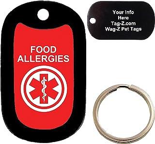 Custom Engraved Pet Tag allergies