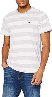 Tommy Jeans TJM Heather Stripe tee Camisa para Hombre