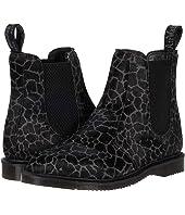 Flora Giraffe Print Chelsea Boots