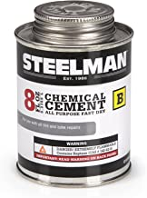 Chemical Vulcanizing Cement for Rubber Tire and Tube Repairs - 8oz. By Steelman, Fast-Drying, Contains Vulcanization Accelerators, Suitable for Chemical or Heat Vulcanization