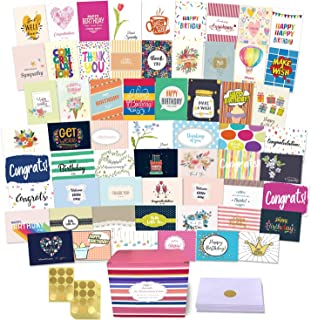 $23 » 60 All Occasion Greeting Cards Assortment, Large Unique Assorted Cards with Greeting Inside. Birthday Cards, Thank You, Sy...