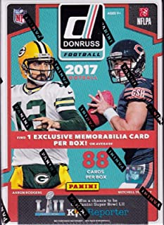 547fee2b06f 2017 Donruss NFL Football Unopened Blaster Box of Packs with One EXCLUSIVE  Memorabilia Card and 11