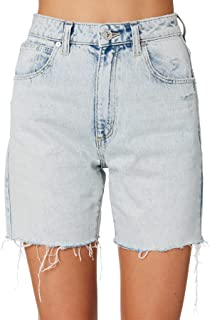 A.Brand Women's A Claudia Cut Off Cotton Fitted Blue