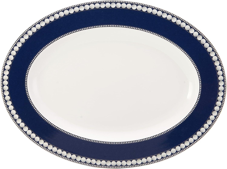 Mikasa Akoya Cobalt Oval Serving Platter